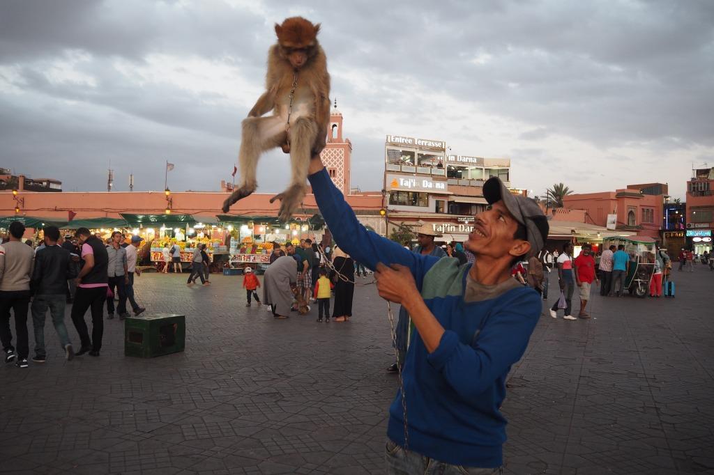 モロッコ・マラケシュのフナ広場
