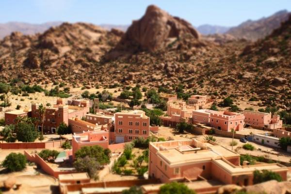 モロッコ タフロウト 絶景